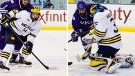 By Michael Caples - Two members of the Michigan Wolverines' freshman class picked up league honors today. Goaltender Zach Nagelvoort and forward Tyler Motte were named the...