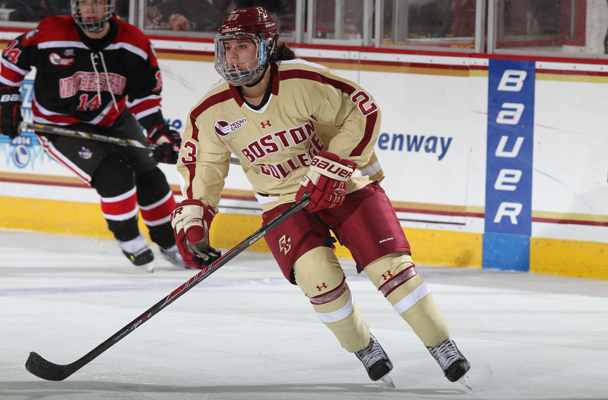 Former Honeybaked standout Andie Anastos is excelling in her freshman season at Boston College. (Photo courtesy of the Boston College Athletics Communications Office)