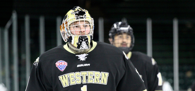 By Sam O'Toole - After stopping 56-of-57 shots faced during the Shillelagh Tournament in South Bend over the weekend, Western Michigan goaltender Frank Slubowski has been named...