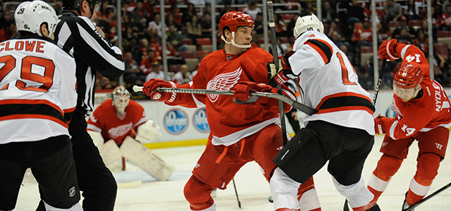 The Detroit Red Wings welcomed Andy Greene, Jon Merrill and the New Jersey Devils to Joe Louis Arena on March 7, 2014. Click here to read MiHockey's recap...
