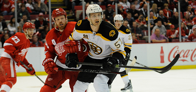 The Detroit Red Wings hosted the Boston Bruins for Game 3 of their Eastern Conference Quarterfinals series at Joe Louis Arena in Detroit. (Photos by Jen Hefner/MiHockey)