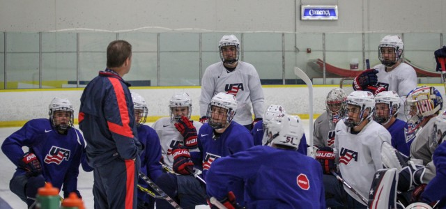 The National Team Development Program Under-17 Team took part in their first practice together at the Ann Arbor Ice Cube today. (Photos by Michael Caples/MiHockey)