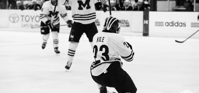 Michigan beat Penn State by a score of 8-1 Saturday night at Yost Ice Arena to earn a weekend split to begin Big Ten play. MiHockey's Andrew Knapik […]