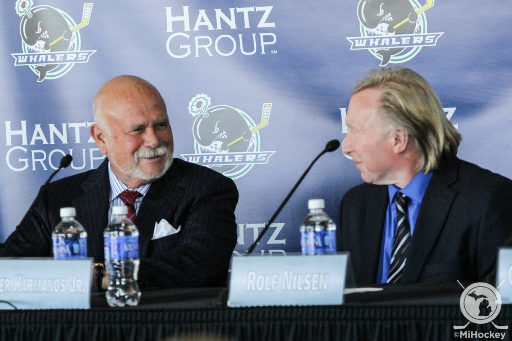 Click on the image above to see MiHockey's report from the Plymouth Whalers' press conference announcing their move to Flint. (Photo by Michael Caples/MiHockey)