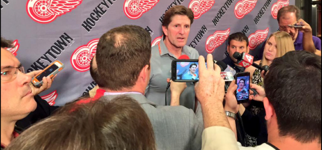 Mike Babcock returned to the Red Wings' locker room one last time Friday morning to say goodbye to Hockeytown. Here is the opening statement from Babcock, who leaves […]