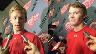 Prior to leaving for the Red Wings' annual prospects development camp in Traverse City, Red Wings prospects talked to the media at Joe Louis Arena. Check out these […]