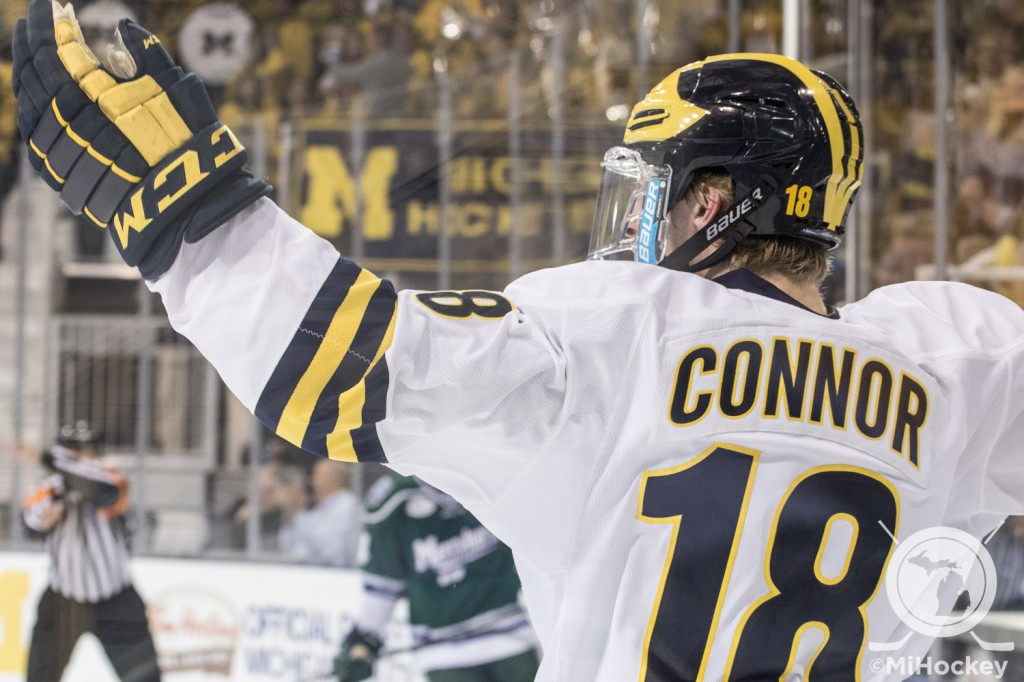 BIG10: Kyle Connor Named First Star Of The Week; UM's Selman Third