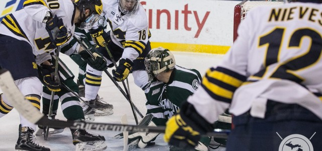 The Wolverines and the Dartmouth Big Green played to a 1-1 tie Saturday night, with Michigan prevailing in a shootout. Red Berenson's club finished with a win and […]