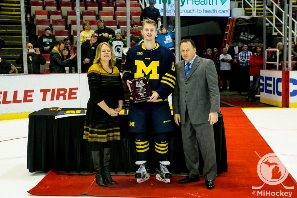 Shelby Township native Kyle Connor was named GLI MVP Wednesday night. (Photo by Andrew Knapik/MiHockey)