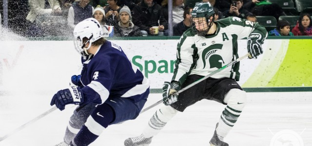 The Michigan State Spartans hosted the Penn State Nittany Lions Friday night at Munn Ice Arena, and things didn't go well for the home team. Penn State prevailed […]