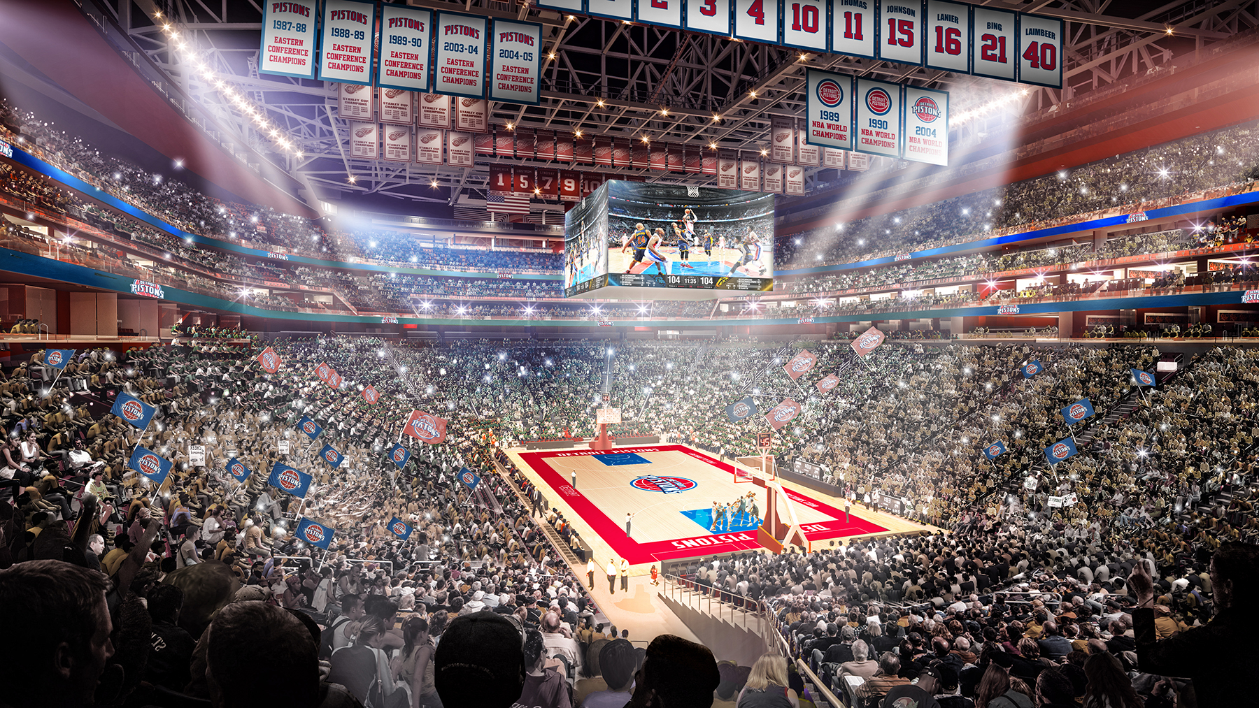 It's Official: The Pistons will be sharing Little Caesars Arena with the Red Wings