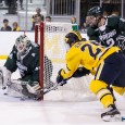 Sam Saliba, Chris Knudson and Connor Wood scored for Michigan State, while Ed Minney stopped all 24 shots he faced for his first career shutout as the Michigan […]