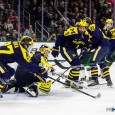 Nolan De Jong and Alex Kile scored in regulation for Michigan, while Zach Nagelvoort stopped 25 shots and Cooper Marody scored the lone goal in a shootout to […]