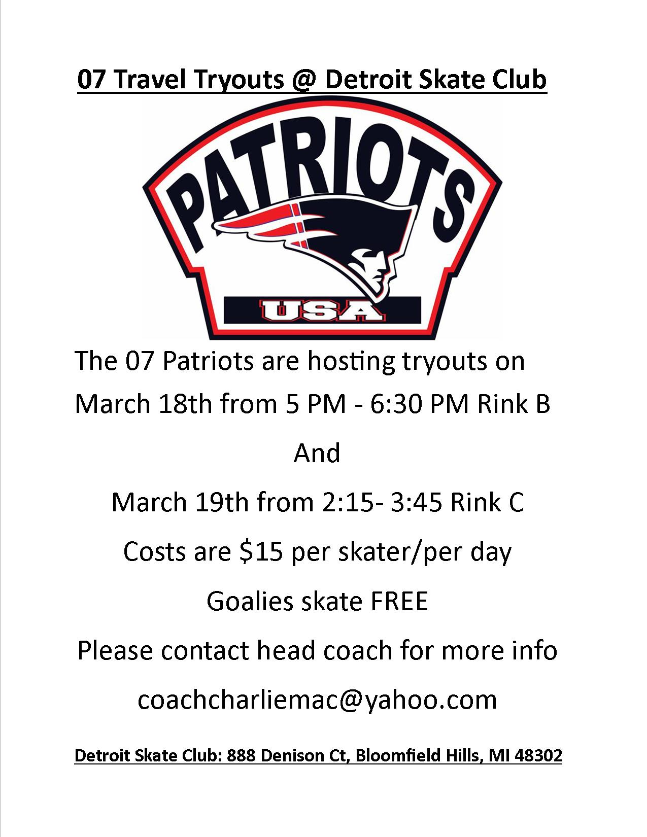 07 Patriots Tryouts