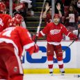 Thanks to Andreas Athanasiou's goal in overtime, the Red Wings recorded a 3-2 victory over the Minnesota Wild at Joe Louis Arena Sunday afternoon. (Photos by Andrew Knapik/MiHockey)