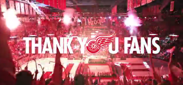 The Red Wings have released a special 'thank you' video to the people of Hockeytown, and it's certainly one to watch. Check it out here.   To the […]