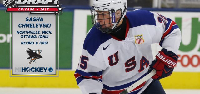 By @MichaelCaples – They took Josh Norris on Friday, and now, they've taken another Michigan boy on Saturday. The Sharks selected Sasha Chmelevski in the sixth round of […]